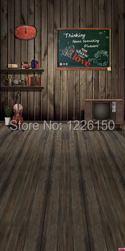 Free digital interior wood &amp;wall floor Photo Backdrop H-0225,7ft x 8ft studio backdrops photography,photography background vinyl<br>