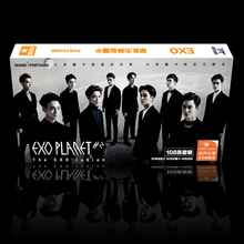 EXO Kpop star popular album planet letters 108 Postal unids lyrical K-pop take pictures LOMO Souvenirs Souvenirs Sticker Poster