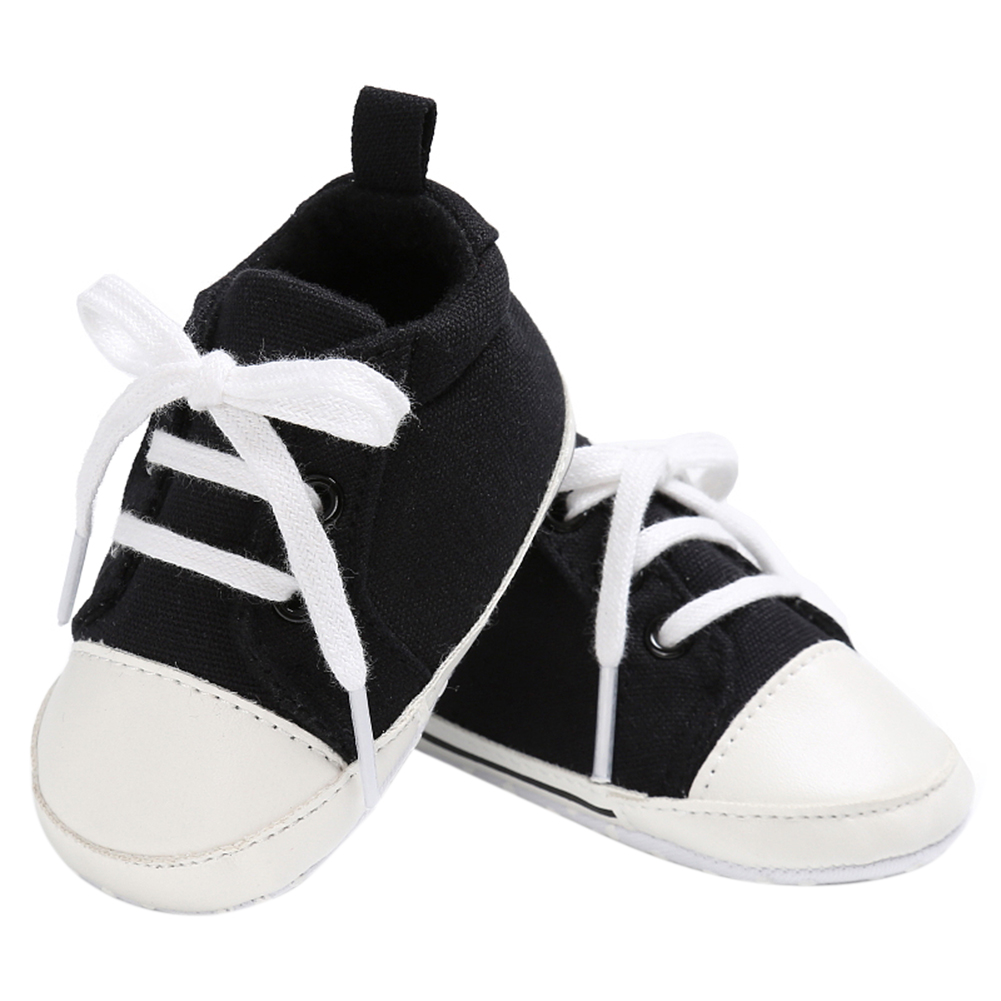 Spring Summer Newborn Canvas Shoes Sneaker Fashion 0-18 Month Baby Girls Boys Solid Soft Sole Shoes Prewalker First Walkers 8