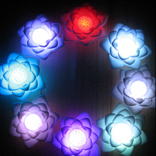 New Wireless Garland LED Night Light Battery Lamp Colorful Lotus Floral Lighting Bulb For Holiday Home decoration bedroom decor(China)