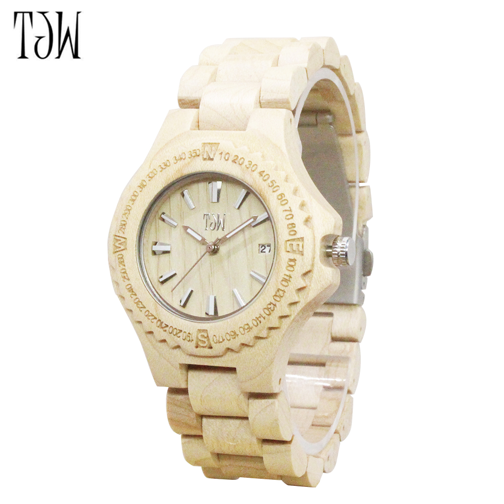 TJW 2017 mens  wood watch business casual  movement mens watch environmental protection of the original ecology<br>