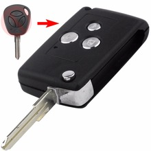 With Sticker Modified Uncut Flip Folding Car Blank Replacement Remote Key Shell Keyless for Lada 3 Buttons