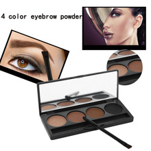 New Makeup 2017, 4 Colors Eyebrow Powder Palette With Brush Mirror Beauty Eyes Tools Eye brow Enhancer Set Make Up Kit