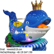 4 Players, Prince Whale Fish Swing Rides Amusement Kiddie Rides Arcade Games Machines