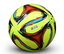 genuine seamless professional soccer ball standard Size 5 PU leather training football for children and adults 7 colors(China)