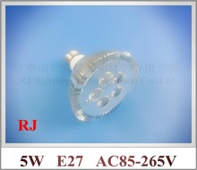 lathe profile aluminum LED spot light lamp spotlight LED bulb par light parlight E27 AC85-265V 5LED 5W 400lm high bright