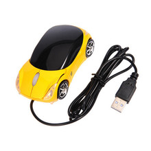 1600DPI Mini Car shape USB optical wired mouse innovative 2 headlights mouse for desktop computer laptop Mice Brand new