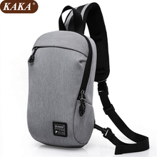 KAKA Hot 2017 New Casual Men's Chest Bag Oxford Sling Bag Multifunctional Small Male Crossbody Bags Fashion Shoulder Bags D027(China)