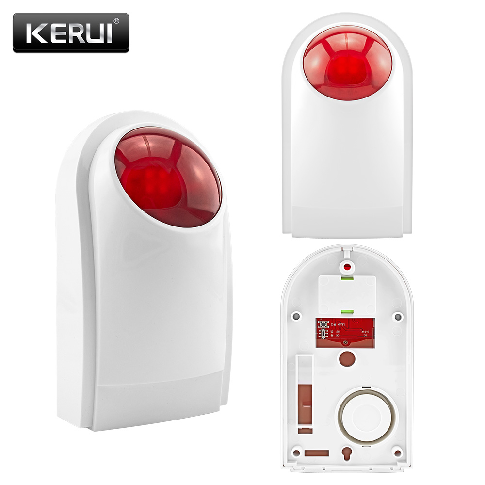 KERUI J008 433mhz 125dB Outdoor Wireless Flashing Siren Strobe light Siren for KERUI Alarm Security System(China (Mainland))