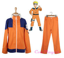 KIGUCOS Hot Anime Naruto Uniform Jacket And Pants Sets Uzumaki Naruto Cosplay Costumes(China)