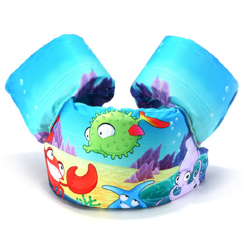 Cartoon Swim Ring Baby Vest Age 2-7 Kids Pool Buoyancy Buoy Pool Float Life Ring Swimming Pool Life Vest Life Jacket C(China)