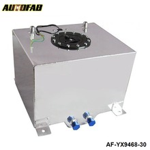 AUTOFAB - 8 GALLON 30LSLIVER COATED ALUMINUM RACING/DRIFTING FUEL CELL GAS TANK+LEVEL SENDER AF-YX9468-30