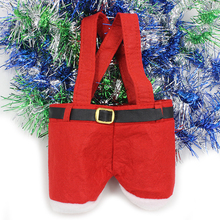 Christmas Santa Pants Spirit Candy Bags Xmas Decoration Sack Cute Child Gift Home - alice ning 's store