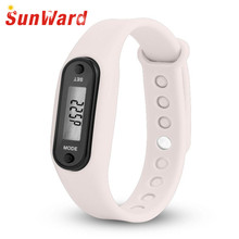 Relogio masculino Run Step Watch Bracelet Pedometer Calorie Counter Digital LCD Walking Distance Mme montre 17May12