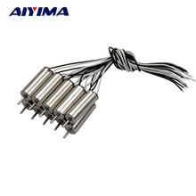 AIYIMA 10pcs 720 Coreless Motor DC3.7V 46000 RPM 20MM NdFeB Magnetic Four-axis Aircraft Model For Helicopter Airplane Robotic
