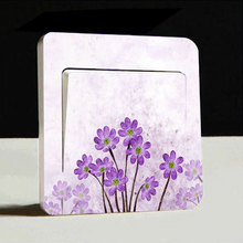 1pc Flower Artistic Switch Cover Wall Stickers Light Decor Decals Art Mural