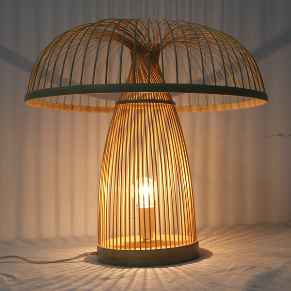 2018 bamboo table lamps handmade hotel bedroom bedside living room 2 mozeypictures Images