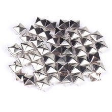 100 Pcs/Lot Garment Rivets Rock Punk Silver Spikes Stud Revit Trim DIY Hand Make Clothing Shoes Bag Garment Rivit