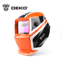 DEKOPRO Orange Mega Solar Auto Darkening  MIG MMA Electric Welding Mask/Helmet/Welding Lens for Welding Machine or Plasma Cutter