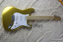 Free Shipping Newest ! High Quality Stratocaster Electric Guitar golden color @7(China)