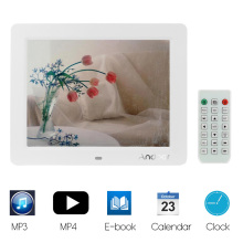 "Andoer 10"" Slim LCD Digital Photo Frame High Resolution with MP3 MP4 E-book Calendar Clock Function with Remote Controller"