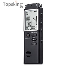 16GB Original Professional Digital Audio Voice Recorder with Real Time Display A Key lock Screen Telephone Recording MP3 Player