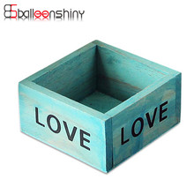 BalleenShiny 1Pcs Mini Love Wooden Storage Box Vintage Retro Jewelry Antique Trinket Cosmetic Organizer 9.8*5cm