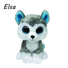 Original Ty Beanie Boos Big Eyes Plush Toy Doll Colorful Huskey Baby Kids Gift 10-15 cm WJ159