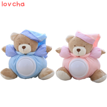 Lovcha Teddy Bear Sleeping Comfort Doll Pat Lamp Doll Kids light LED Night Light Toy Appease Bear Toys for kids