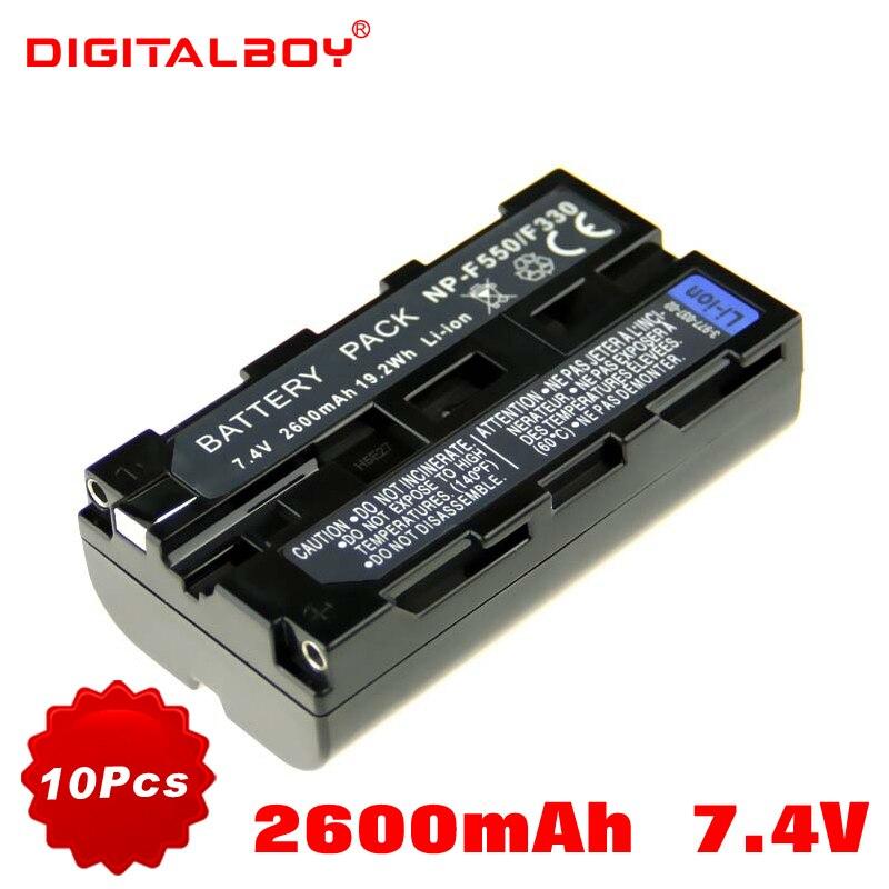 Factory Price 10PCS NP-F550 2600mAh 7.4V NPF550 NP F550 Battery for Sony NP-F570 F530 CCD-SC55 CCD-TRV81 DCR-TRV820K<br><br>Aliexpress