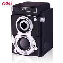 Deli mechanical Pencil Sharpener School stationery Creative Manual pencil sharpener for Student Gift camera pattern