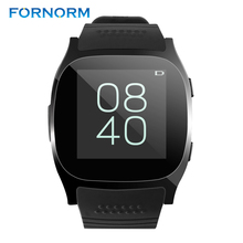 FORNORM T8 Bluetooth Smart Watch With Camera Music Player Facebook Whatsapp Sync SMS Smartwatch Support SIM TF Card For Android(China)