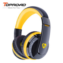 TOPROAD MX666 Wireless Headphones Bluetooth 4.0 Headset with Microphone over the Ear Handsfree Headband Support FM TF for Phone(China)