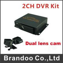 1pcs Dual lens HD Car camera for 2CH mobile DVR