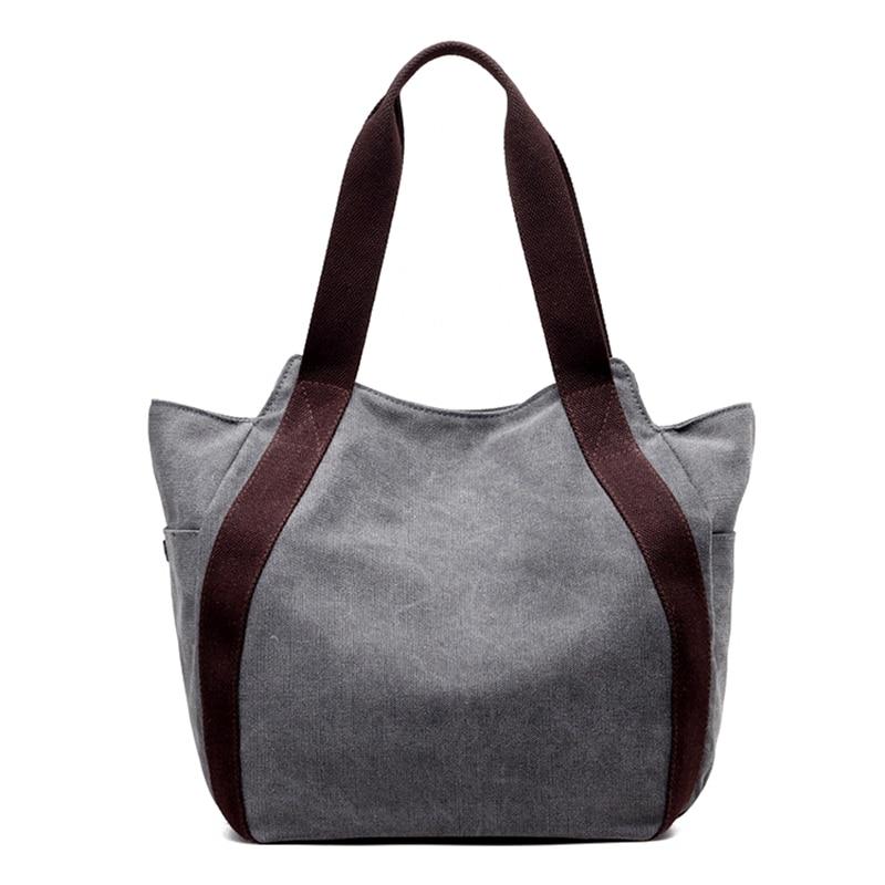 New Arrival Wonen Handbags Women Big Capacity Shoulder Bags Shopping Bags Women Casual  Bags Canvas Hobos Bags<br>