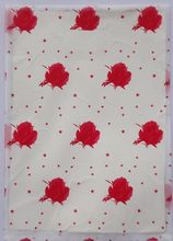 500pcs 15x20cm Red flowers design Printed Plastic Recyclable Useful Packaging Bags Shopping Hand Bag 01502035(China)