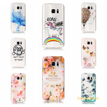 Cover For Samsung S7 Cases 3D Relief TPU Painted balloon flower leaf butterfly cat Pretty Case Phone Shell