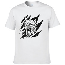 Fierce And Brutal Animal Wolf Printed T shirt 2017 New Summer Cotton Short Sleeve Men T-Shirt Cool Tees #202(China)
