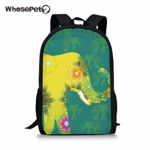 6204336df5ab WHOSEPET Elephant School Bag For Teenagers Girls Boys Cute Zoos Backpacks  College Students Schoolbags Large Women Book Pack New