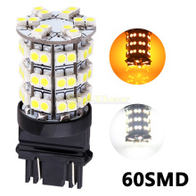 10pcs T25 3157 yellow White 60 SMD Stop Tail Brake Turn 60 LED Car Light 3156 Bulb auto Lamp p27/7w Parking Car Light Source u30