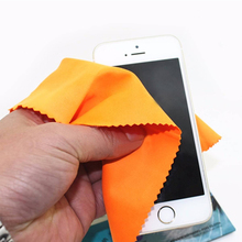 100pcs/ set Mixed Color Wipe Fiber Cleaning Cloth Polishing Eyeglasses Camera Phone Computer Screen Stains(China)