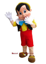 High quality Pinocchio Mascot Costume, Adult Halloween Fancy Dress Cartoon Character Outfit Suit, Free Shipping