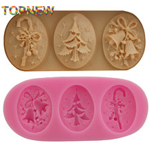 Christmas decorate shaped chocolate candy jello 3D silicone mold soap mould cake tools 2203