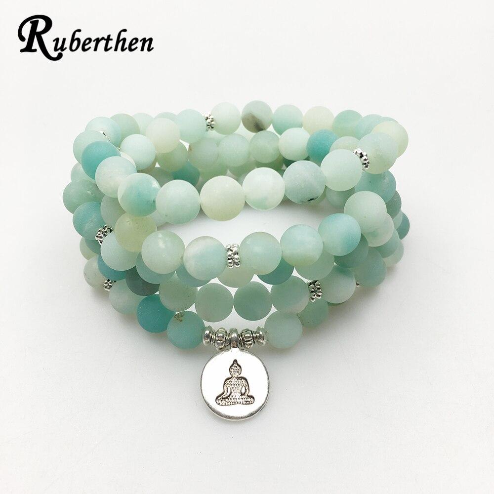 Ruberthen 2017 New Design AB+Amazonite Mala Beads Bracelet Trendy ...