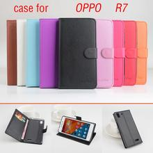 Phone case for OPPO R7 About Flip Cover Mobile Phone Bags Lingmao Brand Hot Sale Factory price.(China)