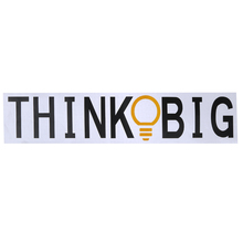 Think Big Wall Stickers Removable Vinyl Home Bedroom Background Wall Decoration Waterproof Letter Sticker