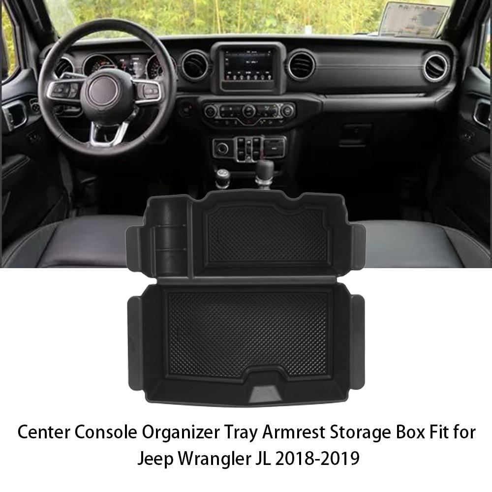 Armrest Storage Box JAUTO Center Console Organizer Tray for Jeep Wrangler JL and JLU 2018-2019