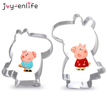 2pcs/set Stainless Steel Pig Cookies Cutter Metal Cake Tools Fondant Mold Baking Cake Decoration Bakeware Mold Cake Baking Tools
