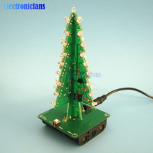 3D Xmas Tree DIY Kits 7 Color Light Flash LED Circuit Christmas Trees LED(China)