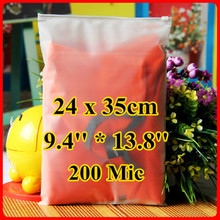Free Shipping 50pcs/lot 24cm*35cm*200mic Frosted Plastic Bag, Christmas Garment Pouch, Plastic Zip Bag, Resealable Plastic Bag
